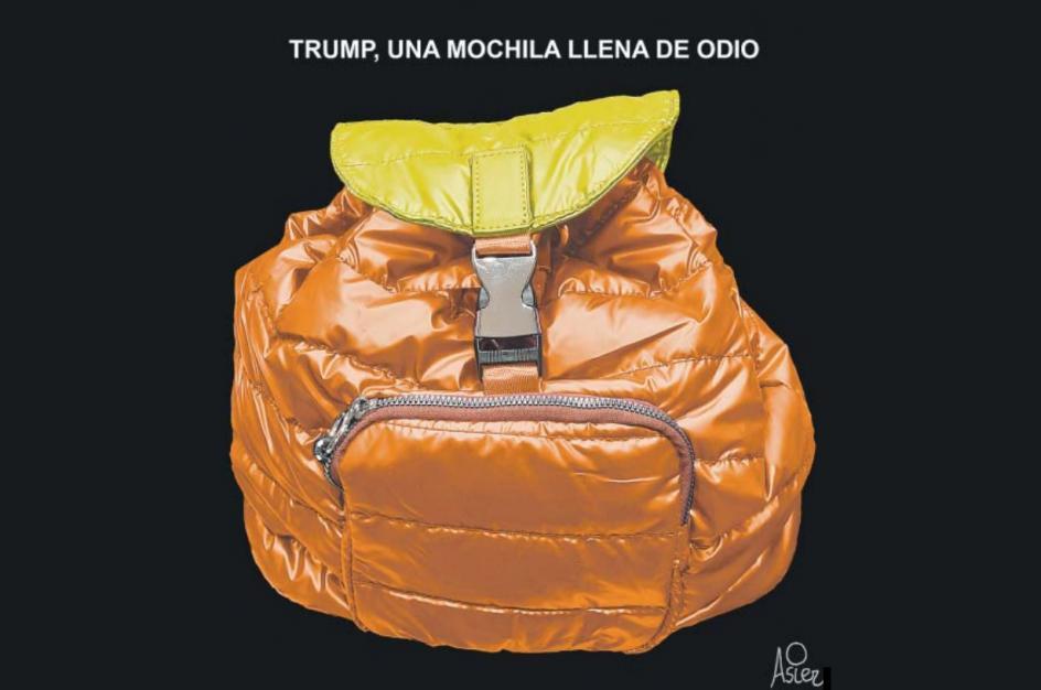 Trump, una mochila llena de odio, por Asier