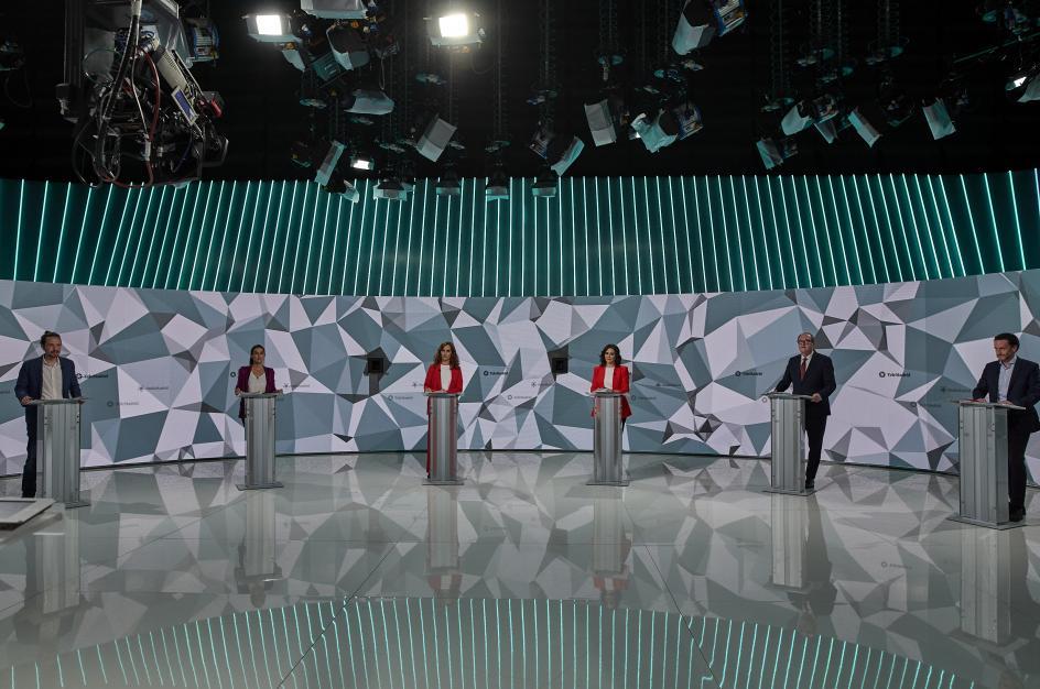 Primer debate a seis organizado por Telemadrid