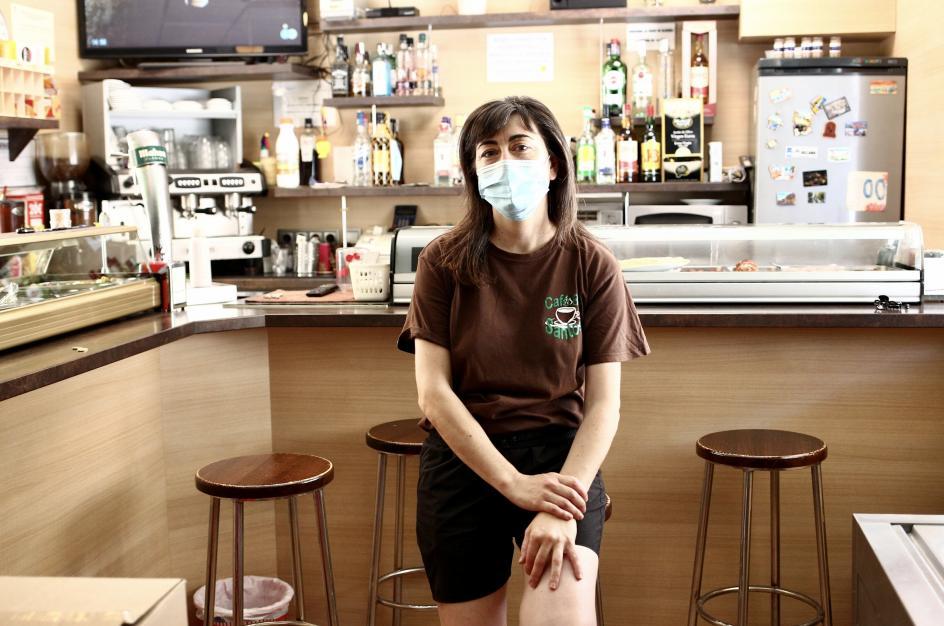 Ana Ramírez es propietaria del bar Santos.