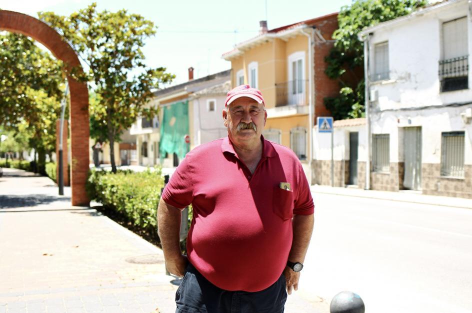 Ángel Ruiz, vecino de Villaconejos. 66 años