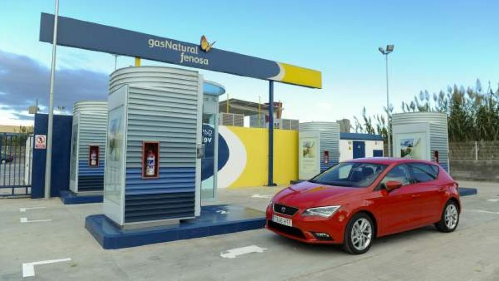 Una de las estaciones de carga de Gas Natural Fenosa.