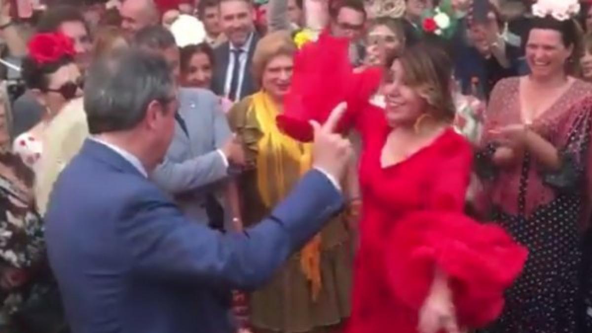 Susana Díaz Se Arranca Por Sevillanas En La Feria De Abril