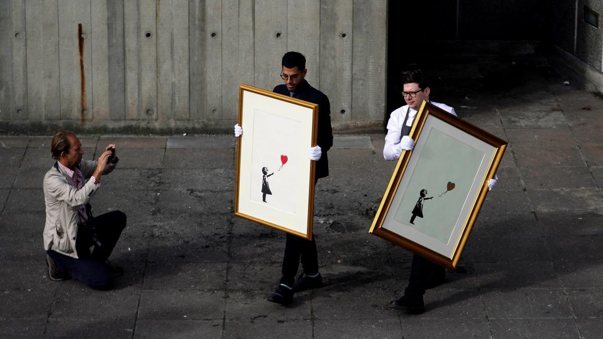 Qué le ocurrió a la obra de Banksy que ahora se vende por 21 millones...