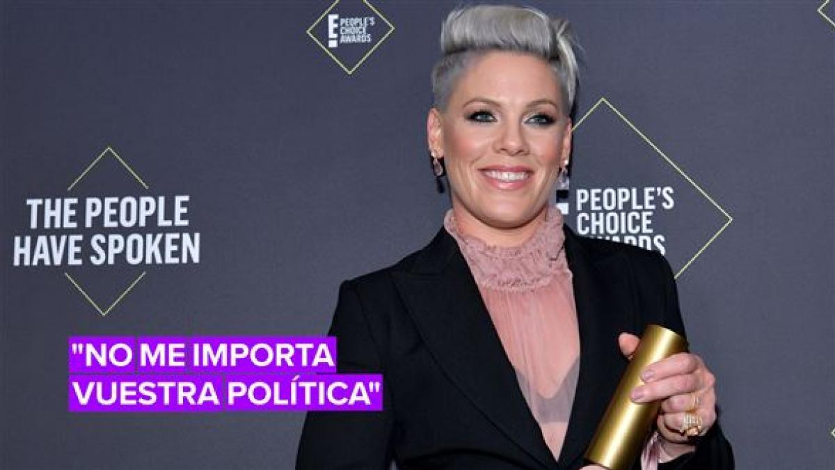 Escucha el discurso de P!nk en los premios 'People's Choice'