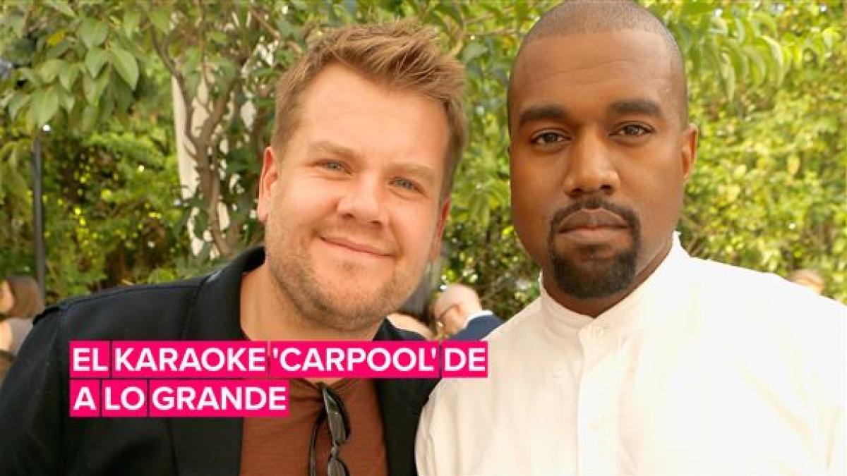 Kanye West organiza su karaoke 'carpool' con James Corden a lo grande