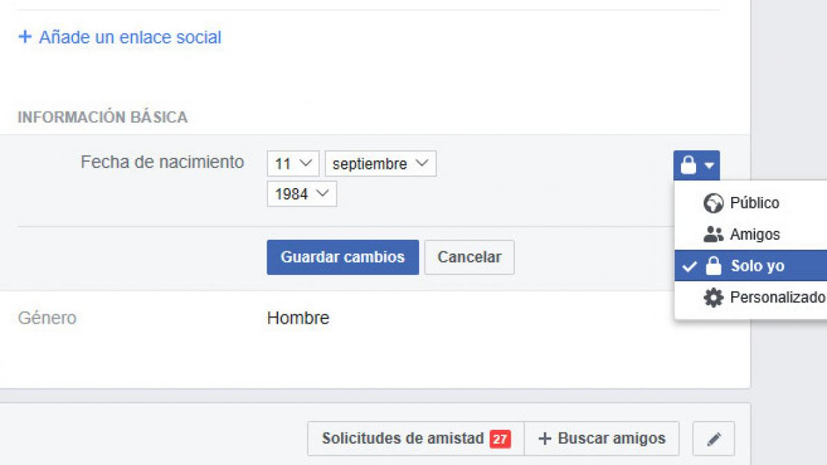 ¿Estás harto de que Facebook se chive de tu cumpleaños? Cómo evitar que tus contactos se enteren de la fecha