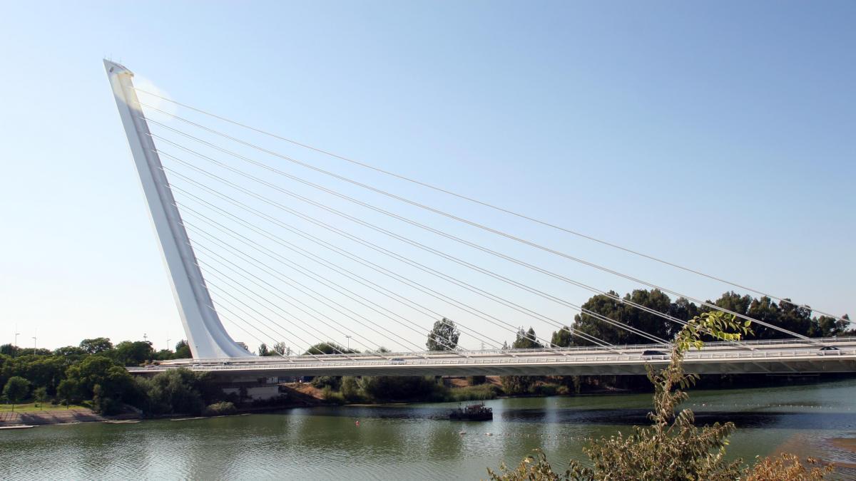 Dos jóvenes logran impedir el suicidio de un chico en el puente del Alamillo
