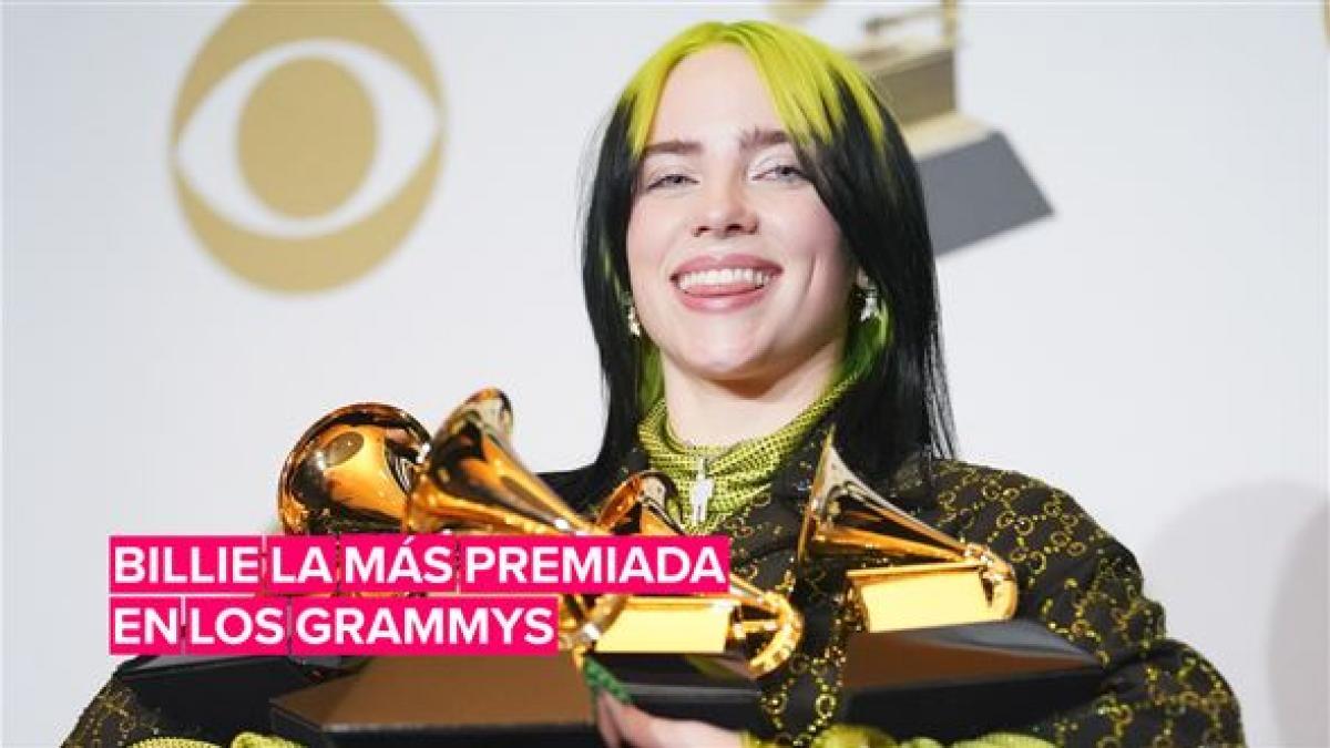 Billie Eilish fue la más premiada en los Grammys