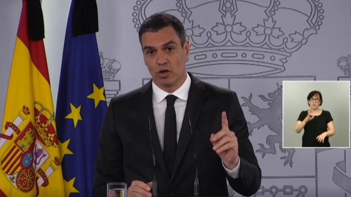 """Sánchez achaca los rebrotes a la """"irresponsabilidad individual de algunas personas"""""""
