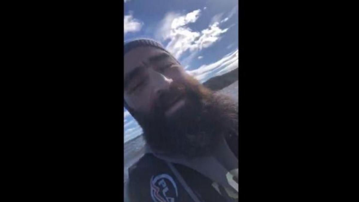 Un kayakista graba sus últimos minutos antes de morir tras perderse en el mar