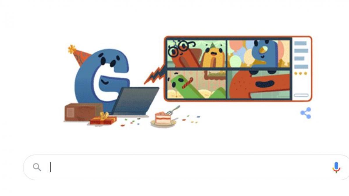 <div>Google celebra sus 22 años con un 'doodle' adaptado a los tiempos de Covid</div>