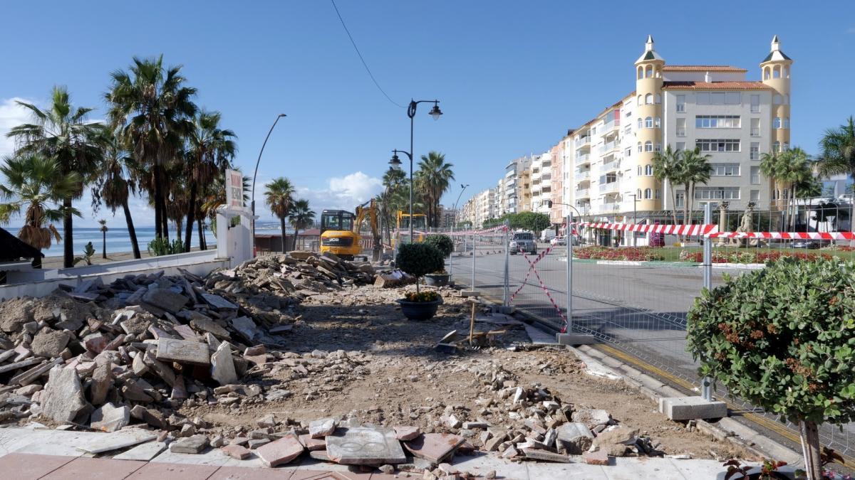 El Ayuntamiento de Estepona inicia las obras de remodelación del paseo marítimo 2