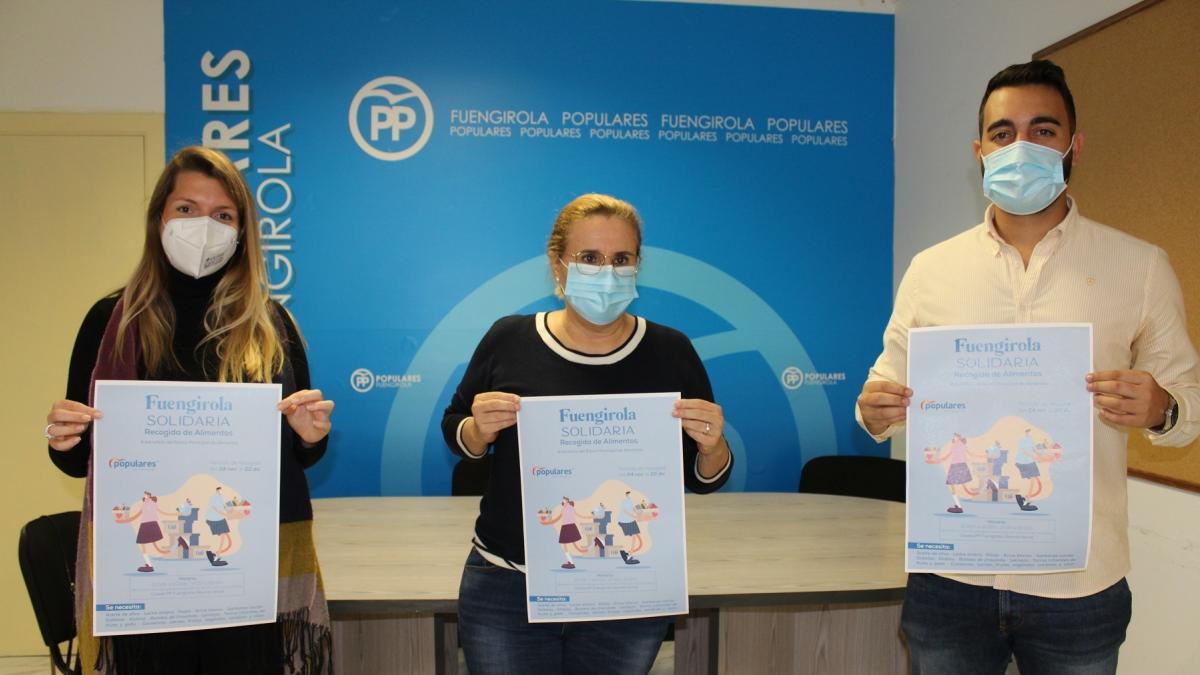 El PP de Fuengirola inicia una campaña de recogida de alimentos y productos de higiene para el Banco Municipal 2