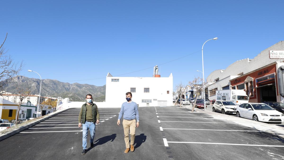 El Ayuntamiento de Marbella habilita más de 40 nuevas plazas de aparcamiento en el polígono La Ermita 1