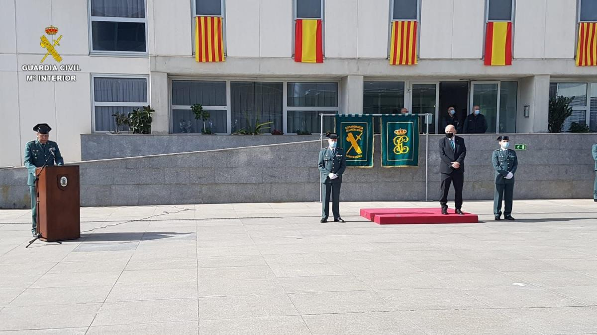 Jordi Verger toma posesión como nuevo jefe de la comandancia de la Guardia Civil de Tarragona