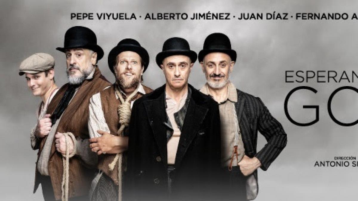 Pepe Viyuela, Alberto Jiménez, Juan Díaz, Fernando Albizu y Jesús Lavi llegan a Tomelloso con 'Esperando a Godot'