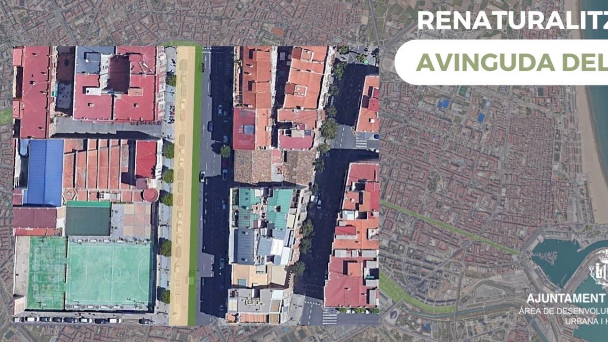 El Ayuntamiento impulsa el proyecto para renaturalizar la avenida del puerto como un paseo hacia el mar