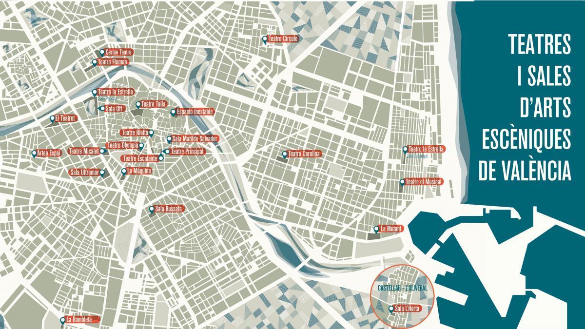El Ayuntamiento distribuye un mapa ilustrado para descubrir todos los teatros de la ciudad