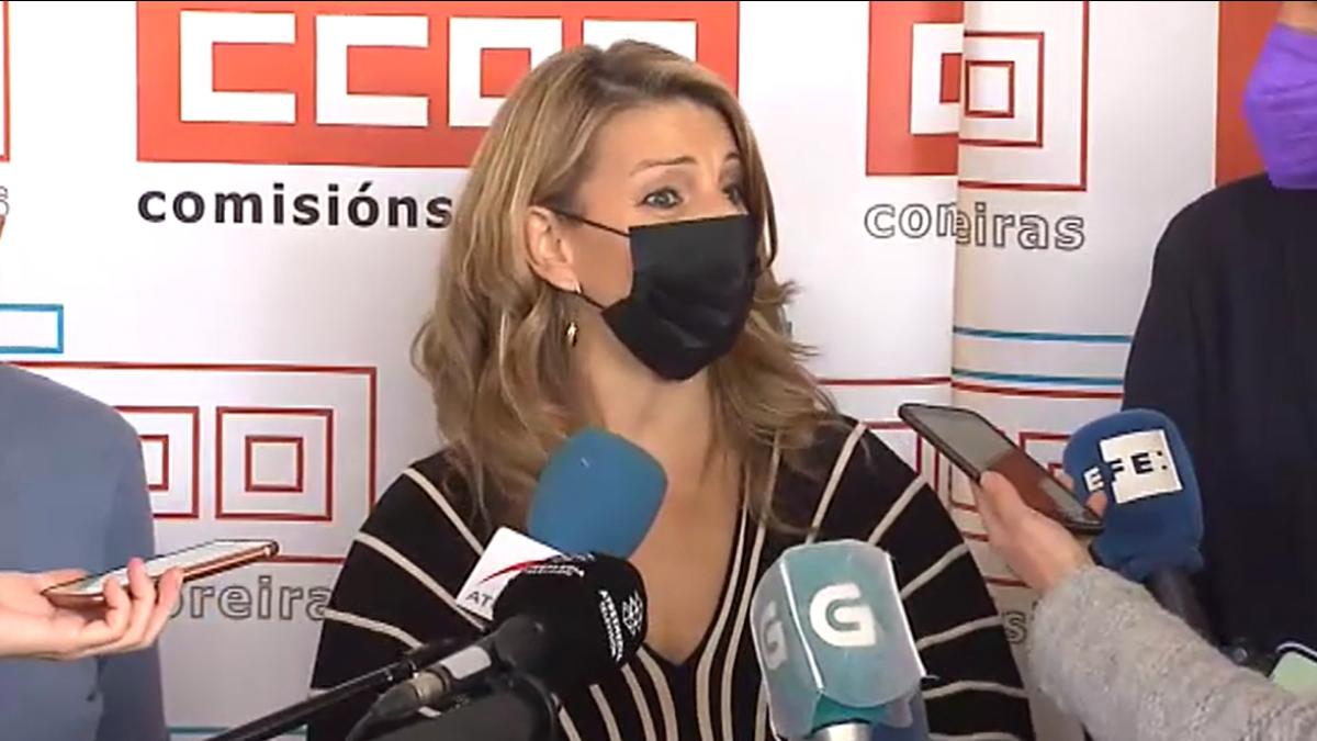 """Yolanda Díaz: """"Debemos ser ejemplares y responsables"""""""