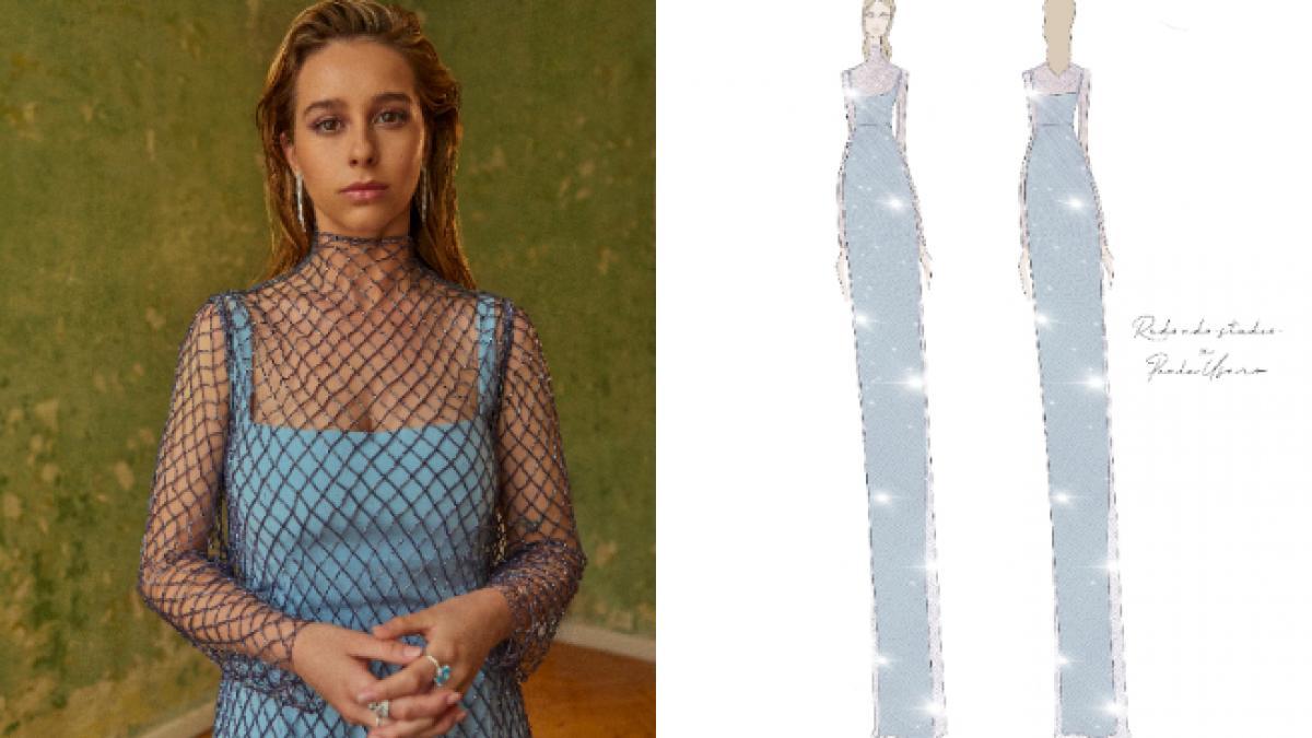 Goya 2021: El vestido de Paula Usero es un sueño azul pastel