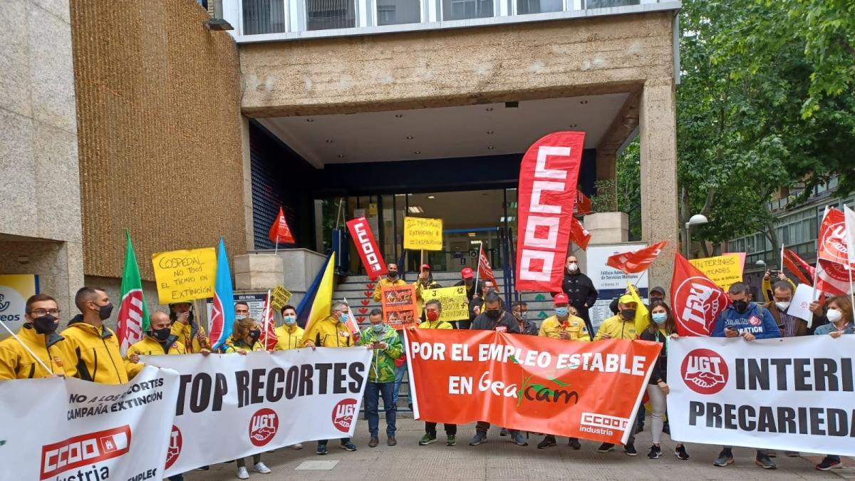 CCOO y UGT ratifican la convocatoria de huelgas en Geacam tras la primera fase de las movilizaciones