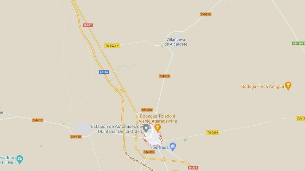 Herido un menor de 8 años tras ser atropellado por un turismo en Quintanar de la Orden (Toledo)
