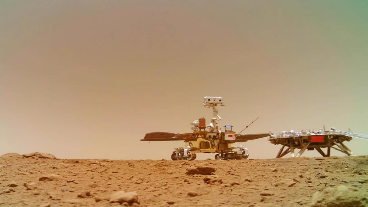 El sonido de Marte: China publica un audio del planeta rojo captado por su  rover Zhurong