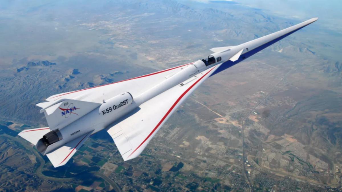 Termina la construcción de X-59: el avión supersónico de la NASA que promete volar de manera silenciosa
