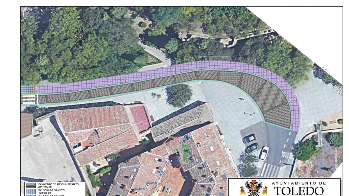 Las mejoras en las calles de Reyes Católicos y Bajada de San Martín de Toledo podrían empezar antes de terminar el año