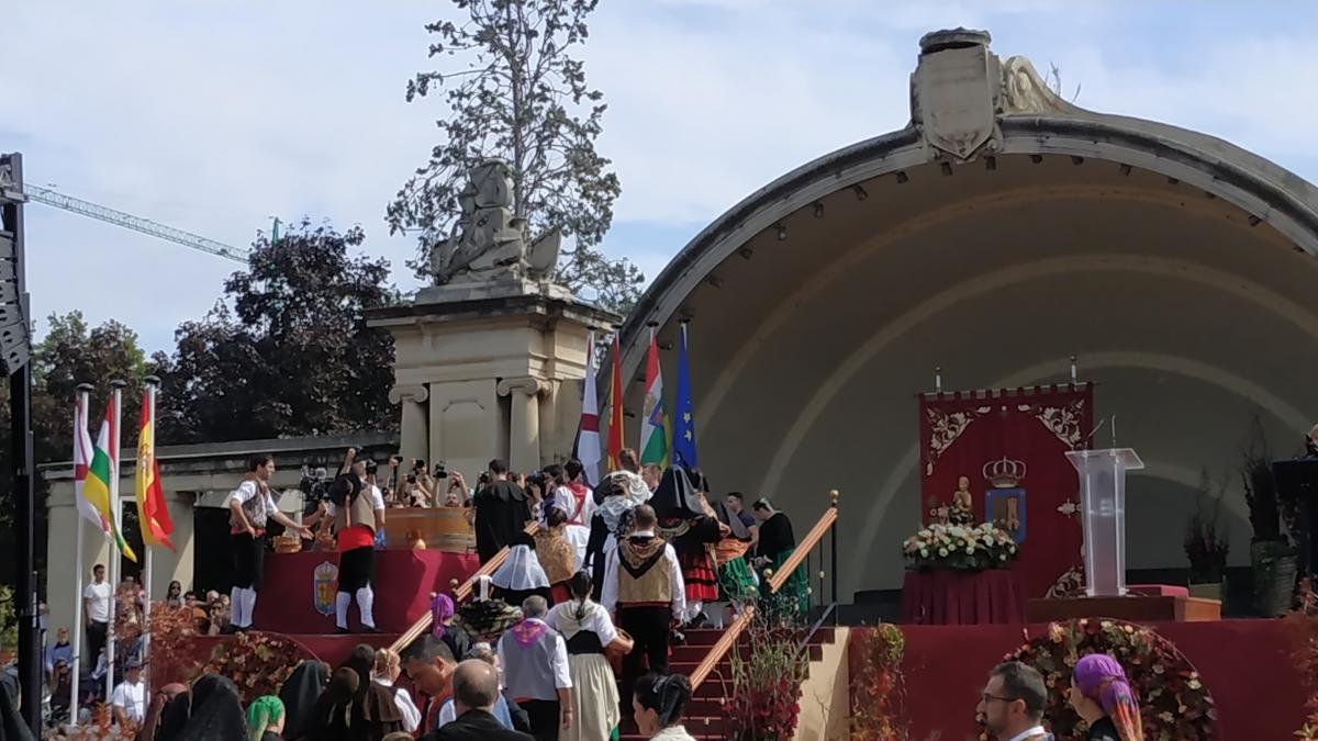 La Misa y Ofrenda del Primer Mosto a la Virgen de Valvanera, acto central este martes en los Sanmateos de Logroño