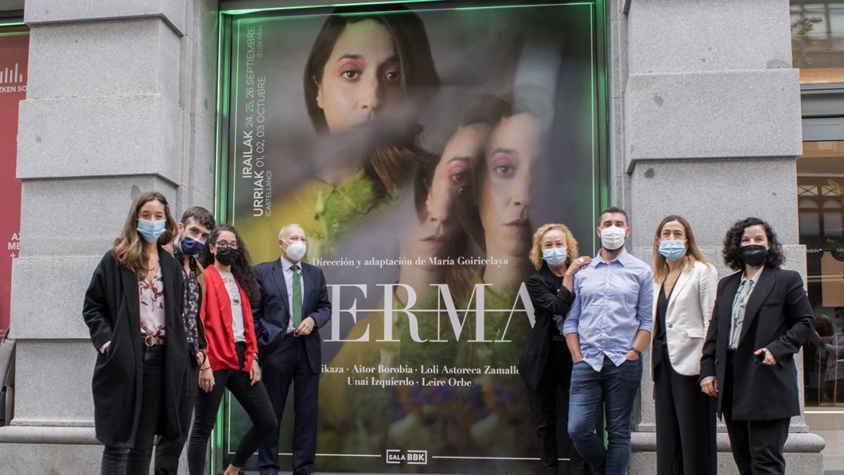 La Sala BBK estrenará el viernes la versión en euskera del clásico de Lorca 'Yerma', de la directora María Goiricelaya