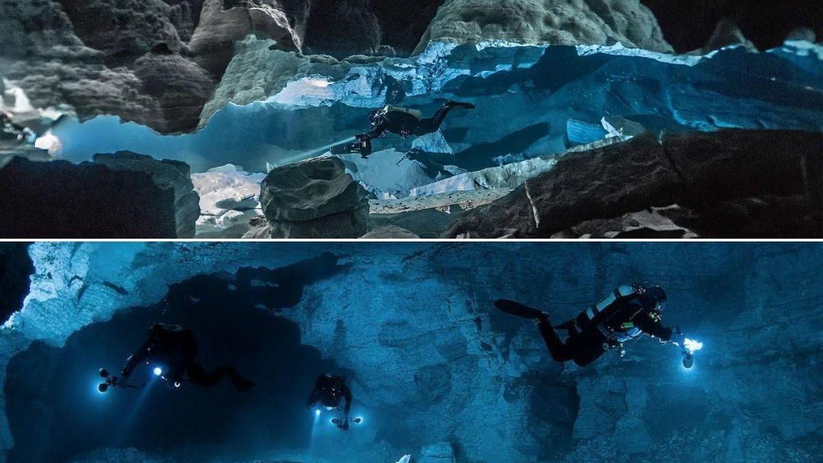El laberinto submarino de cuevas único en el mundo en el que se puede bucear