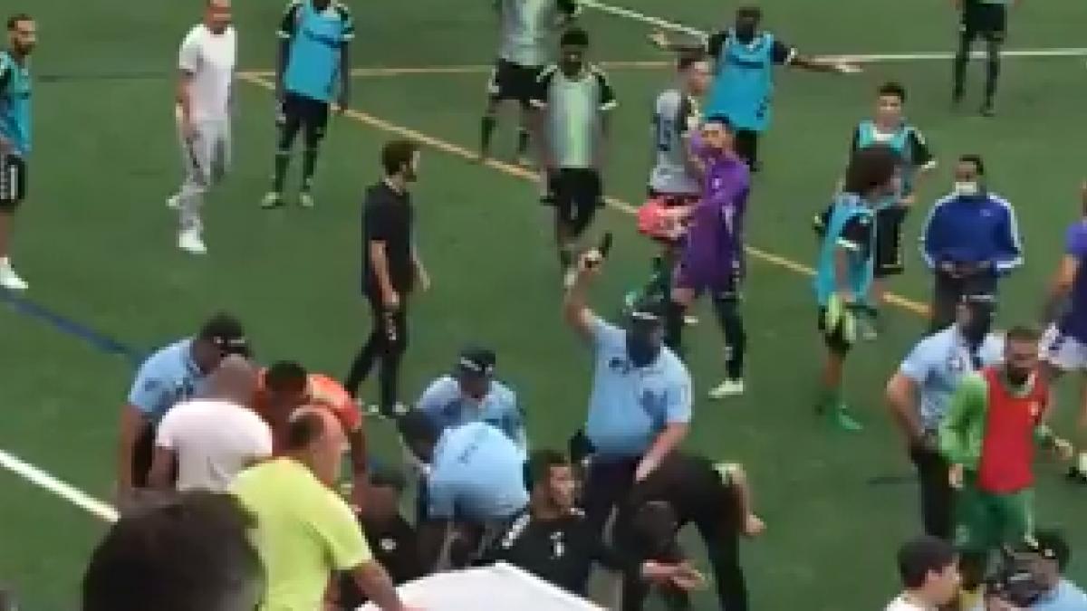 Una discusión en un partido en Portugal termina con disparos al aire y un jugador encañonado