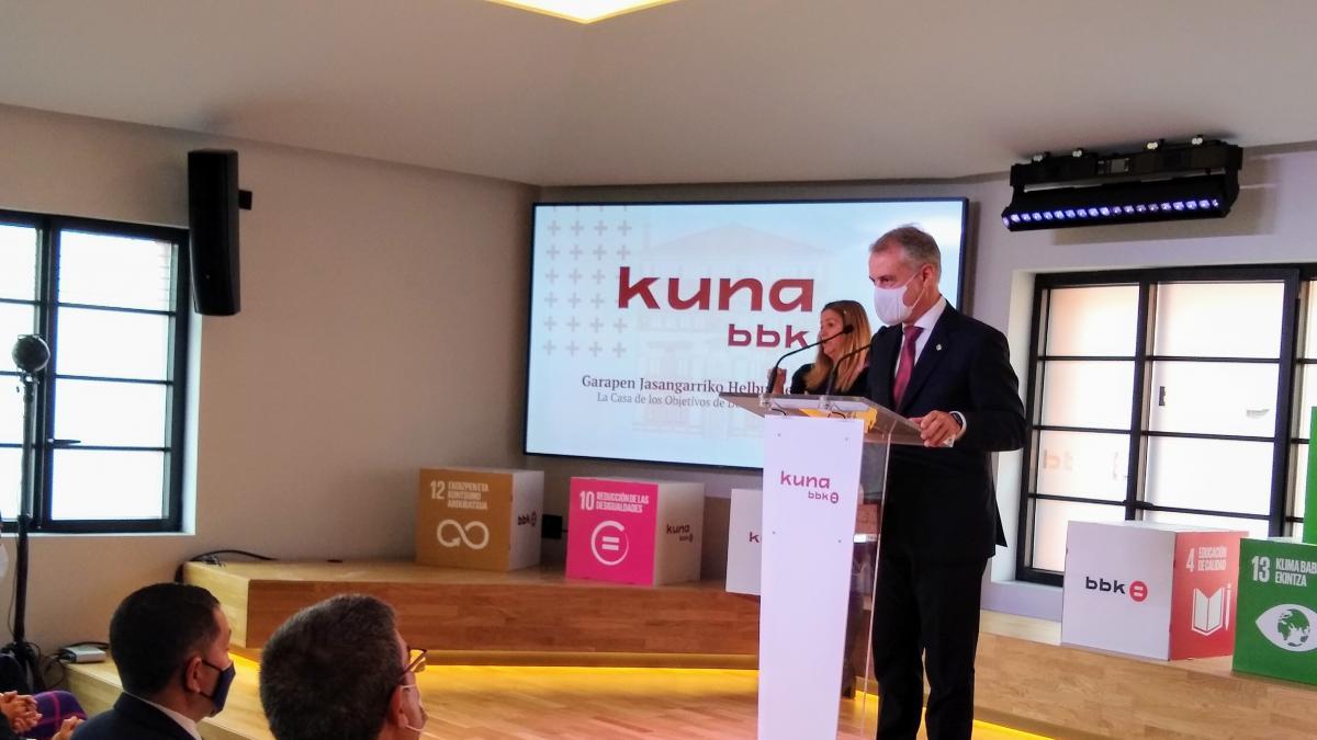 """Urkullu afirma que los Objetivos de Desarrollo Sostenible deben ser """"motor de un gran consenso"""" en Euskadi"""