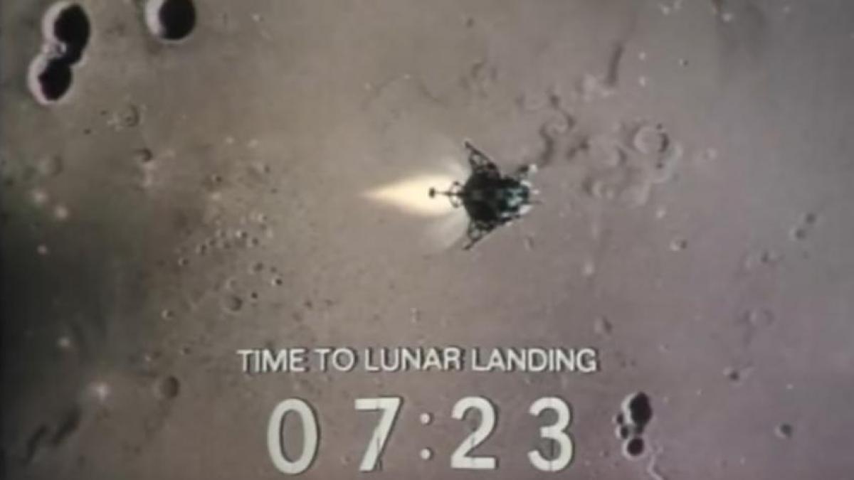 Vídeo: Así retransmitió la tele el alunizaje del Apolo 11
